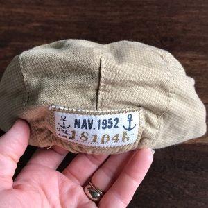 H&M Tan Flat Golf Cap/Hat, 6-9M